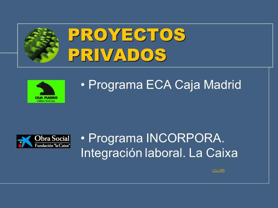 PROYECTOS PRIVADOS Programa ECA Caja Madrid