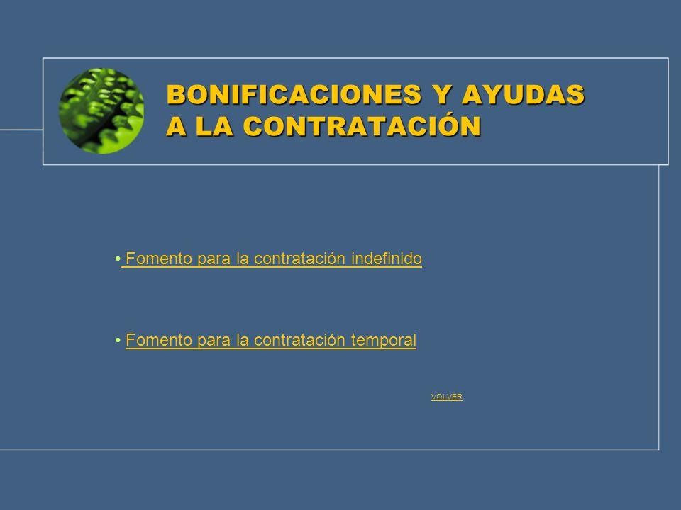 BONIFICACIONES Y AYUDAS A LA CONTRATACIÓN