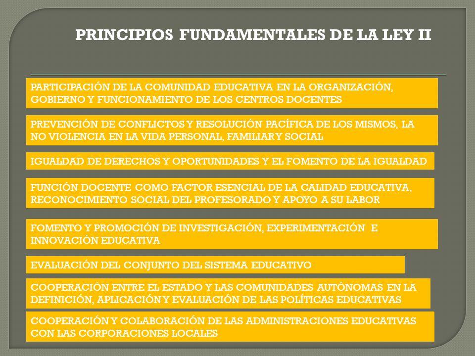 PRINCIPIOS FUNDAMENTALES DE LA LEY II