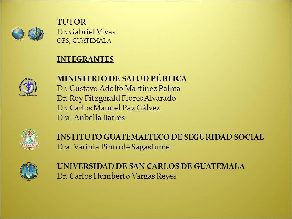 MINISTERIO DE SALUD PÚBLICA Dr. Gustavo Adolfo Martínez Palma