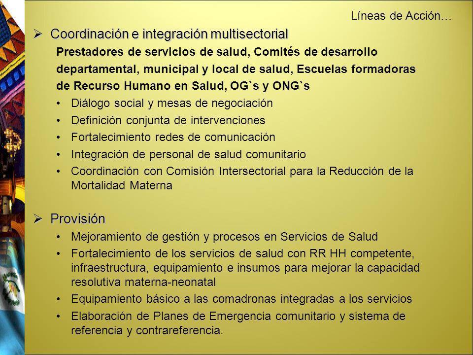 Coordinación e integración multisectorial