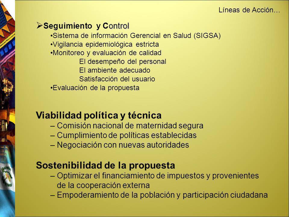 Viabilidad política y técnica