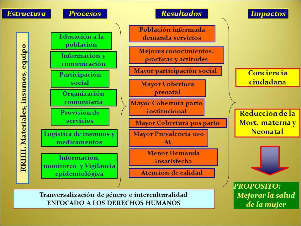 Estructura Procesos Resultados Impactos