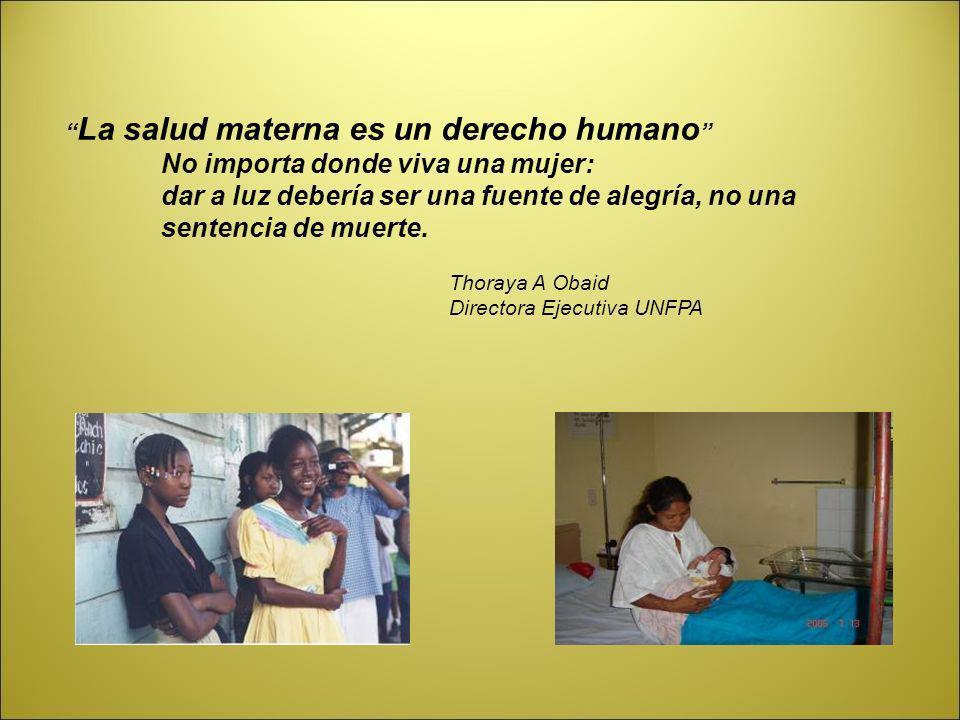 La salud materna es un derecho humano