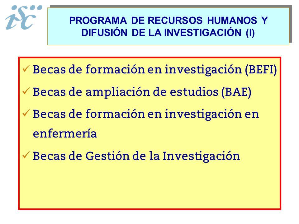PROGRAMA DE RECURSOS HUMANOS Y DIFUSIÓN DE LA INVESTIGACIÓN (I)
