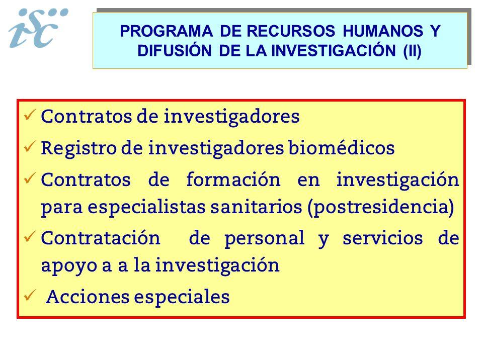 PROGRAMA DE RECURSOS HUMANOS Y DIFUSIÓN DE LA INVESTIGACIÓN (II)