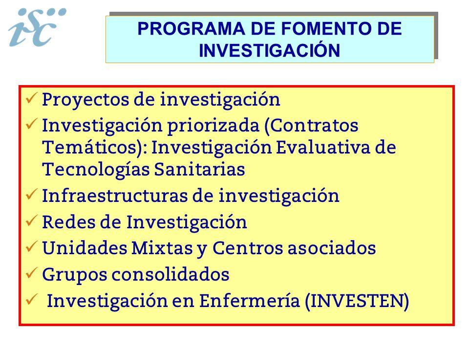 PROGRAMA DE FOMENTO DE INVESTIGACIÓN