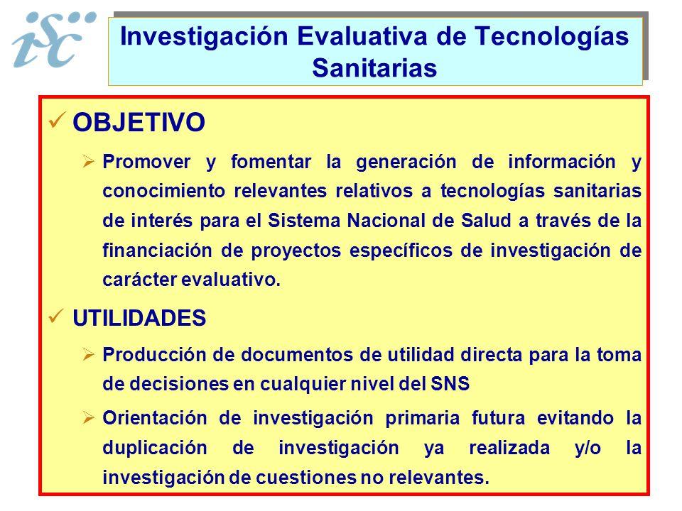 Investigación Evaluativa de Tecnologías Sanitarias