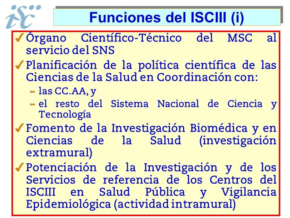 Funciones del ISCIII (i)