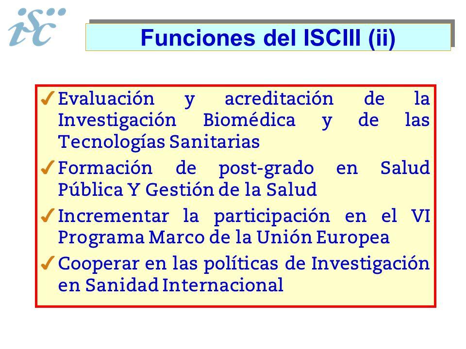 Funciones del ISCIII (ii)