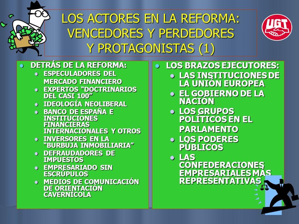LOS ACTORES EN LA REFORMA: VENCEDORES Y PERDEDORES Y PROTAGONISTAS (1)