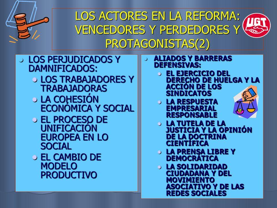 LOS ACTORES EN LA REFORMA: VENCEDORES Y PERDEDORES Y PROTAGONISTAS(2)