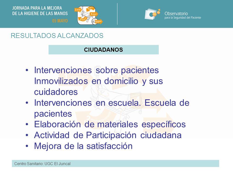 Intervenciones en escuela. Escuela de pacientes