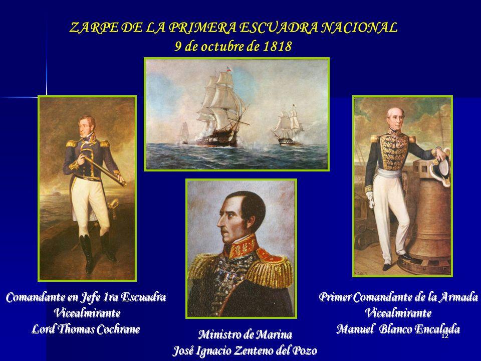 ZARPE DE LA PRIMERA ESCUADRA NACIONAL