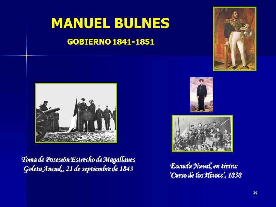MANUEL BULNES GOBIERNO 1841-1851