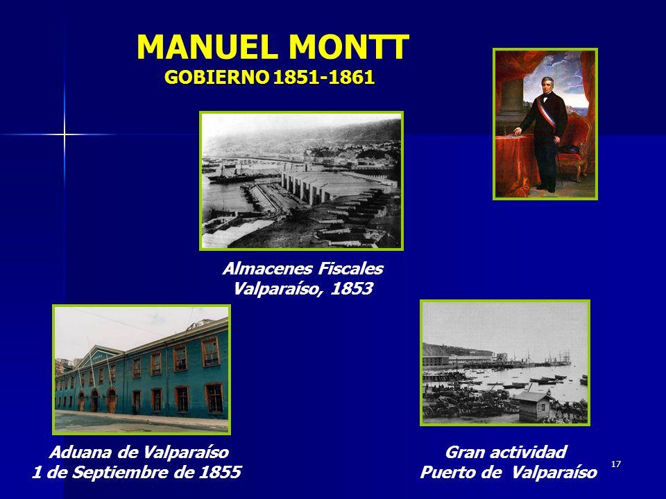 MANUEL MONTT GOBIERNO 1851-1861