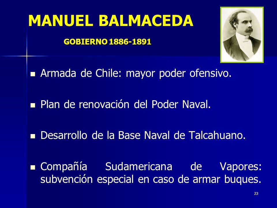 MANUEL BALMACEDA GOBIERNO 1886-1891