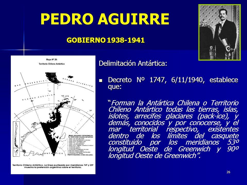 PEDRO AGUIRRE GOBIERNO 1938-1941