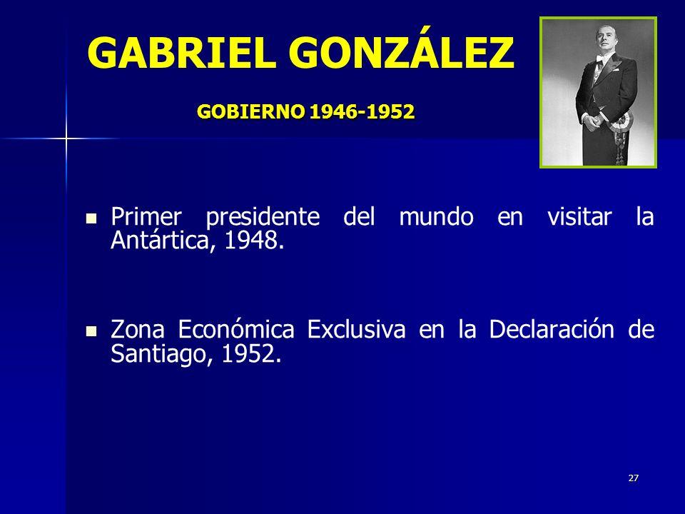 GABRIEL GONZÁLEZ GOBIERNO 1946-1952