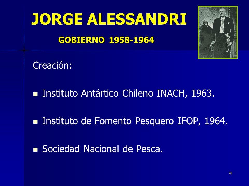 JORGE ALESSANDRI GOBIERNO 1958-1964