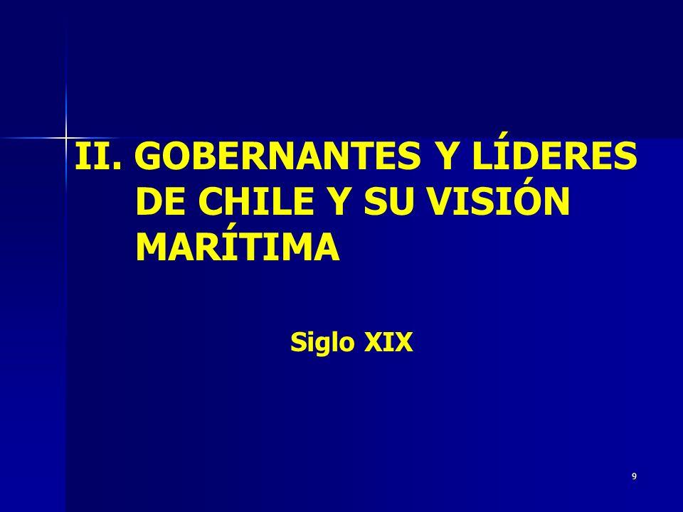II. GOBERNANTES Y LÍDERES DE CHILE Y SU VISIÓN MARÍTIMA Siglo XIX