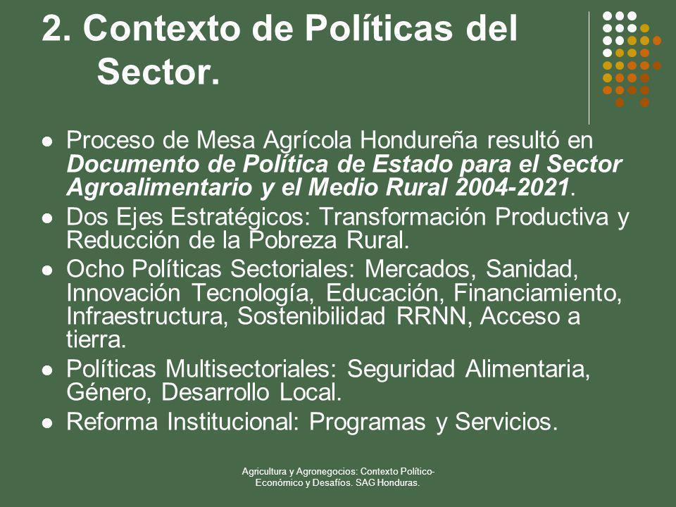 2. Contexto de Políticas del Sector.