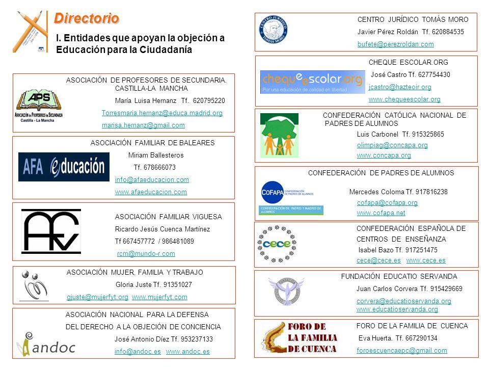 DirectorioCENTRO JURÍDICO TOMÁS MORO. Javier Pérez Roldán Tf. 620884535. bufete@perezroldan.com.