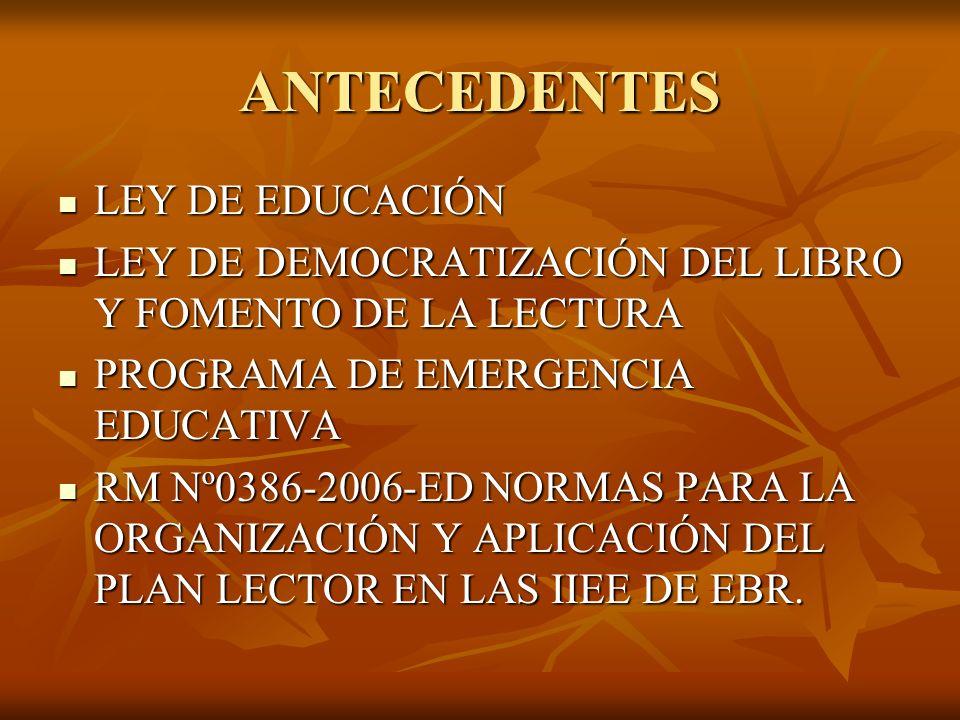 ANTECEDENTES LEY DE EDUCACIÓN