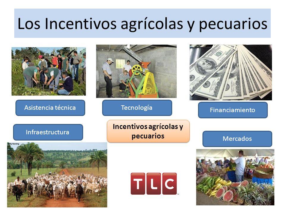 Los Incentivos agrícolas y pecuarios
