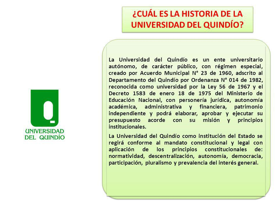 ¿CUÁL ES LA HISTORIA DE LA UNIVERSIDAD DEL QUINDÍO