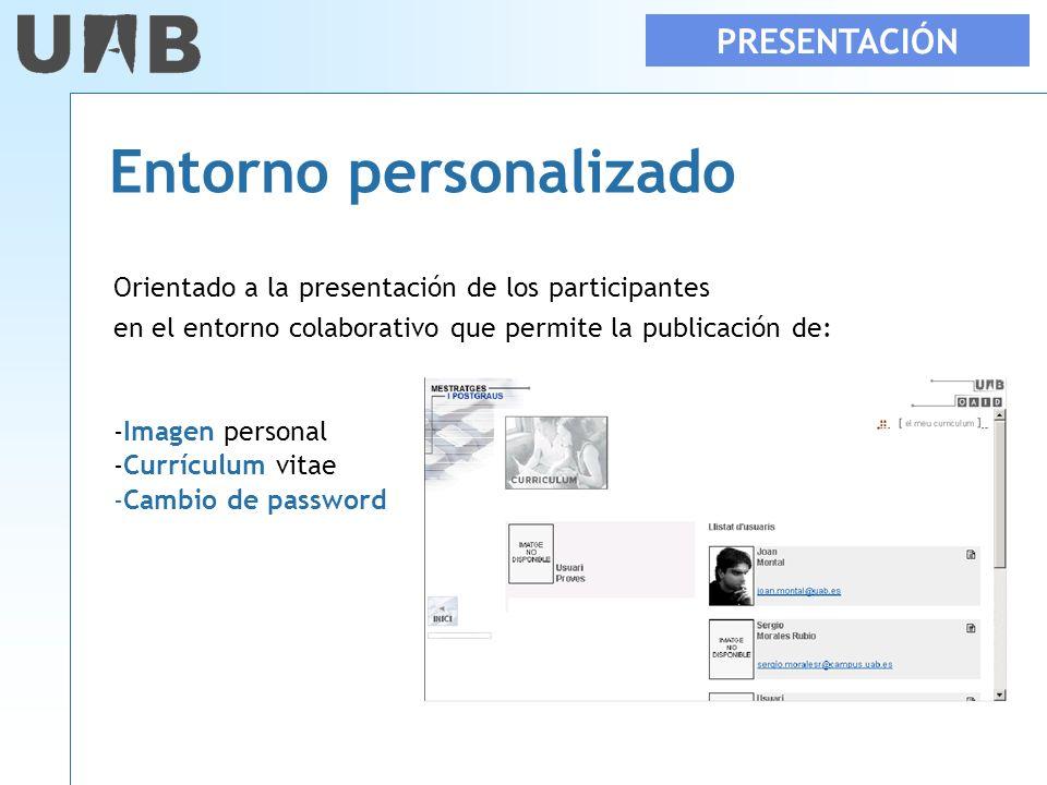Entorno personalizado