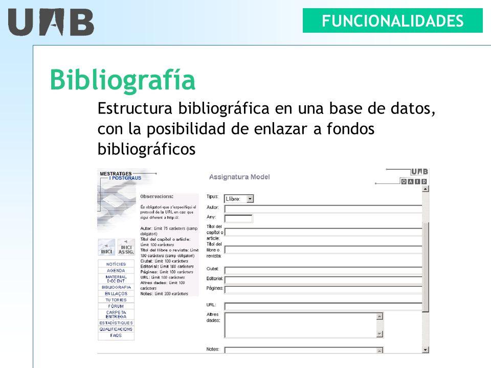 Bibliografía FUNCIONALIDADES