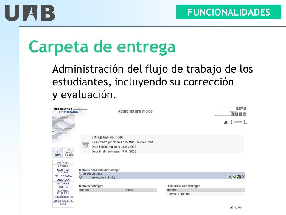 Carpeta de entrega Administración del flujo de trabajo de los