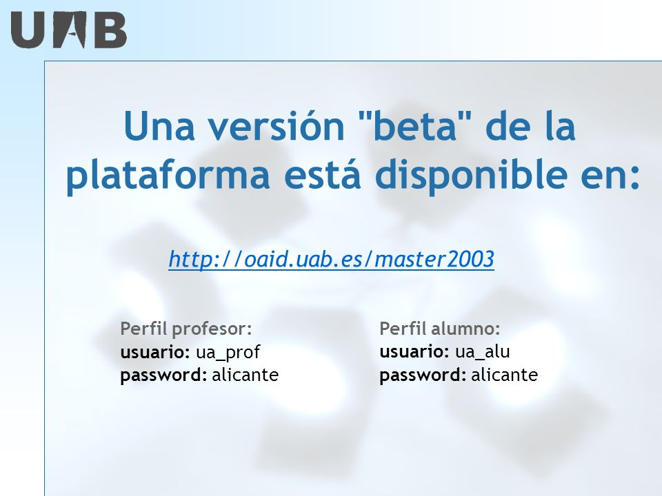 plataforma está disponible en:
