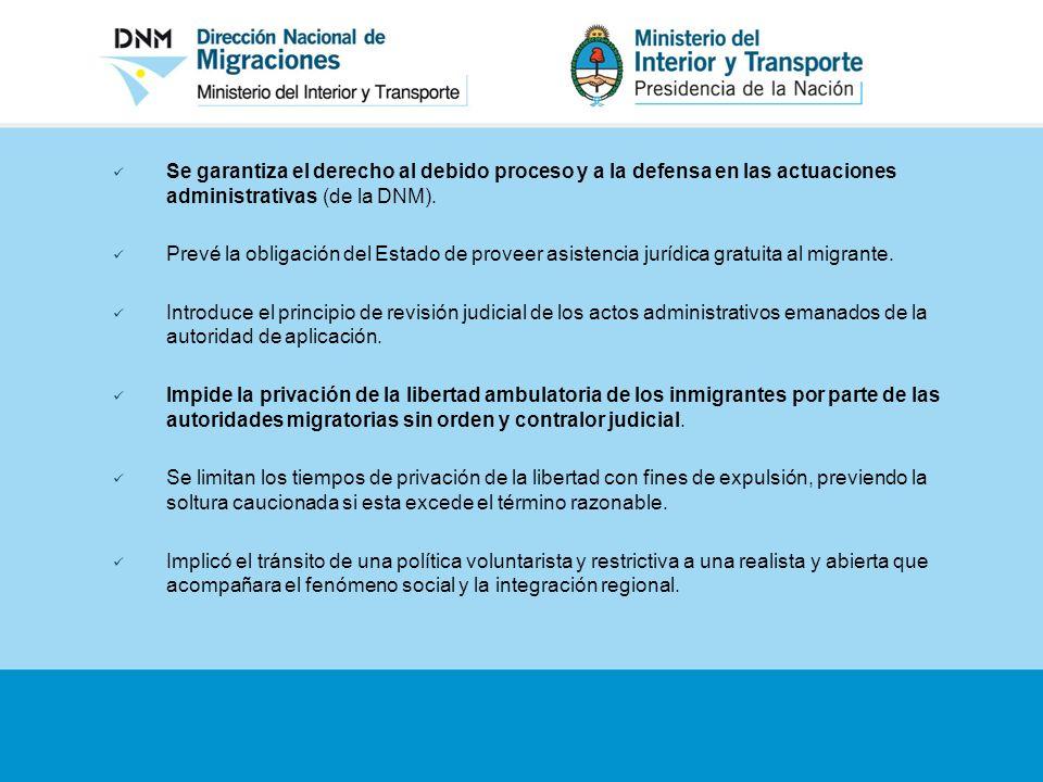 Se garantiza el derecho al debido proceso y a la defensa en las actuaciones administrativas (de la DNM).
