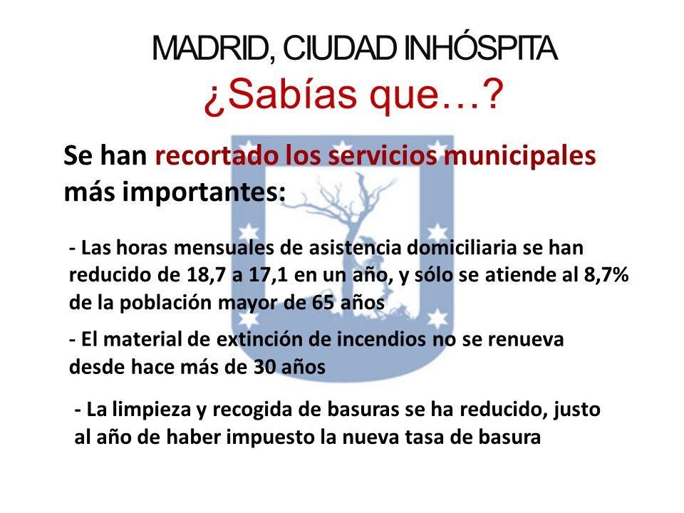 MADRID, CIUDAD INHÓSPITA ¿Sabías que…