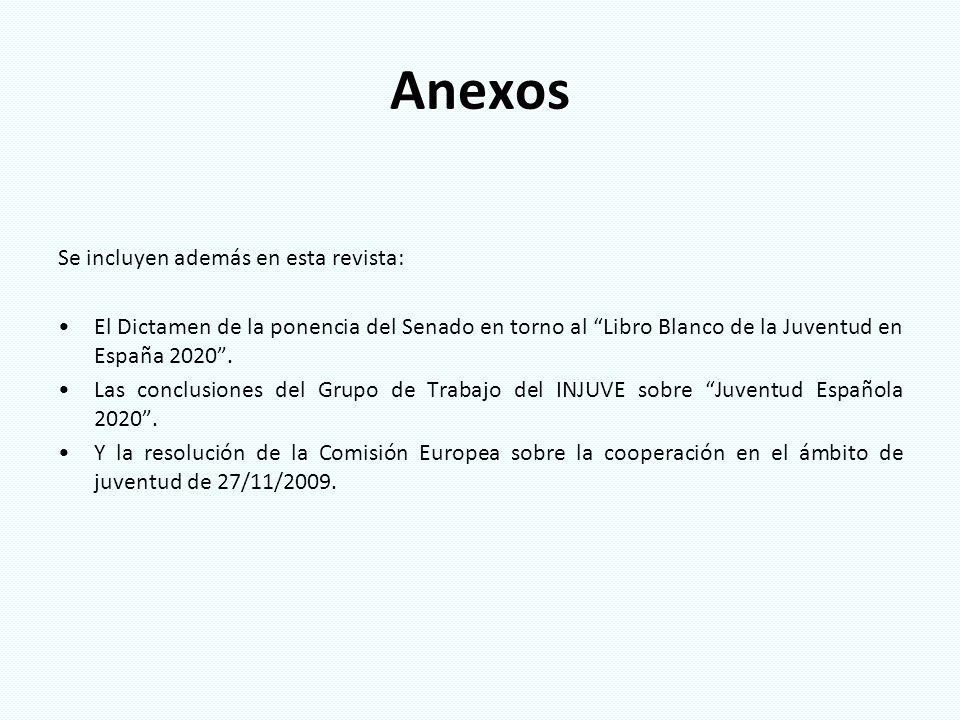 Anexos Se incluyen además en esta revista: