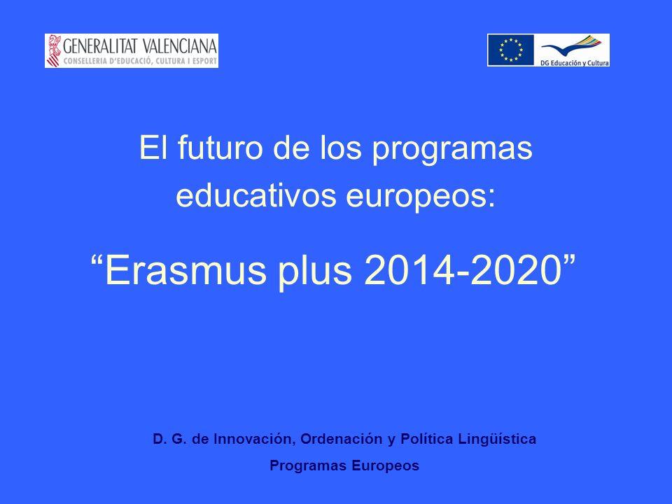 El futuro de los programas educativos europeos: