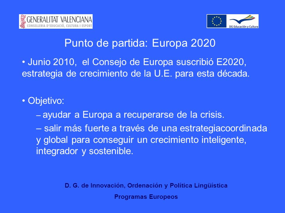 Punto de partida: Europa 2020