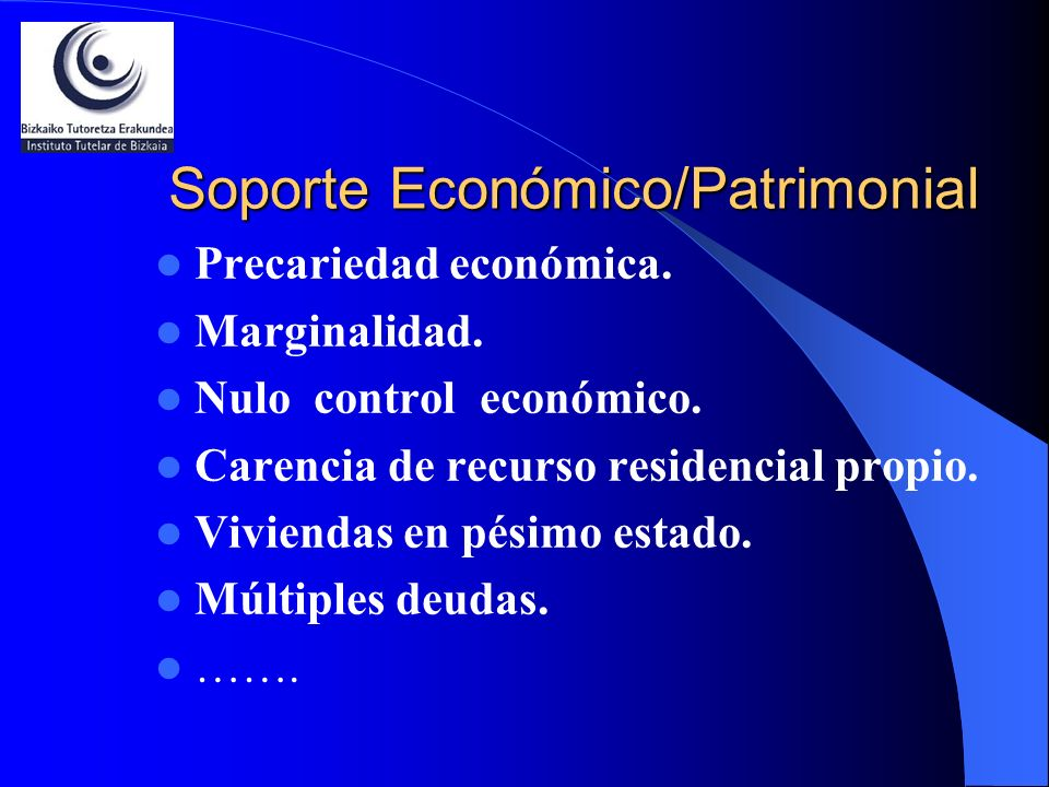 Soporte Económico/Patrimonial