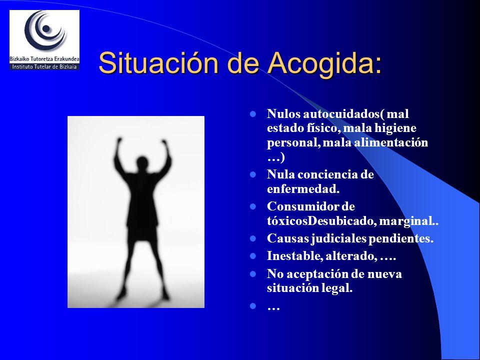 Situación de Acogida:Nulos autocuidados( mal estado físico, mala higiene personal, mala alimentación …)