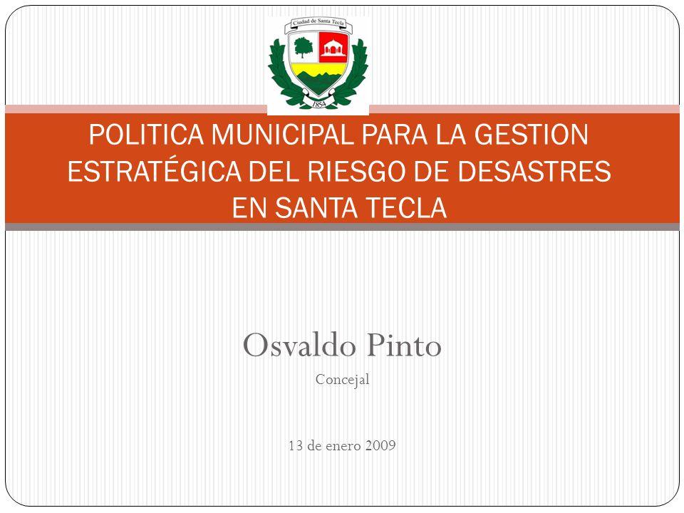 Osvaldo Pinto Concejal 13 de enero 2009