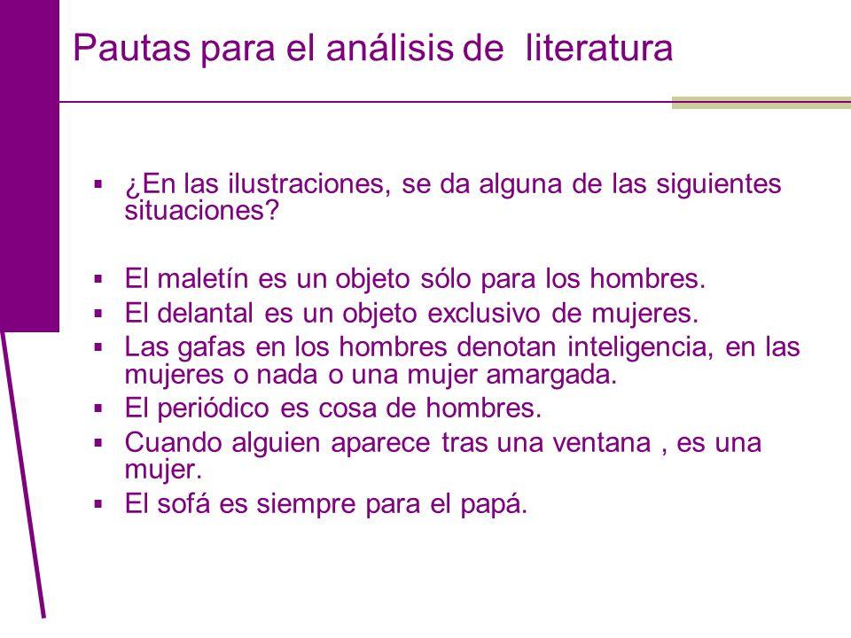 Pautas para el análisis de literatura