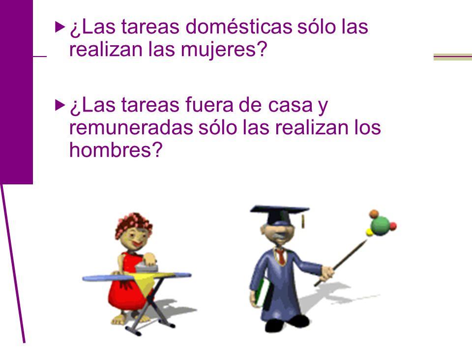 ¿Las tareas domésticas sólo las realizan las mujeres