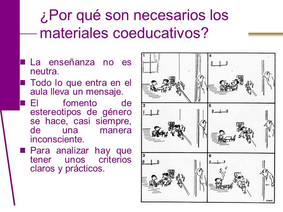 ¿Por qué son necesarios los materiales coeducativos