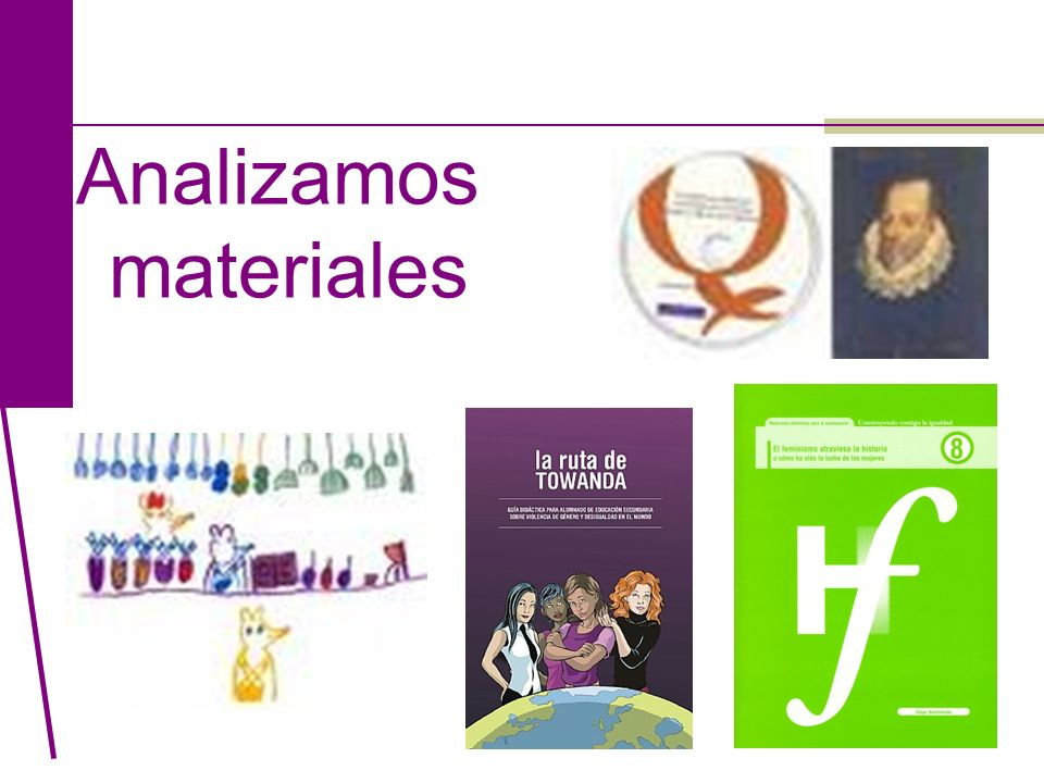 Analizamos materiales