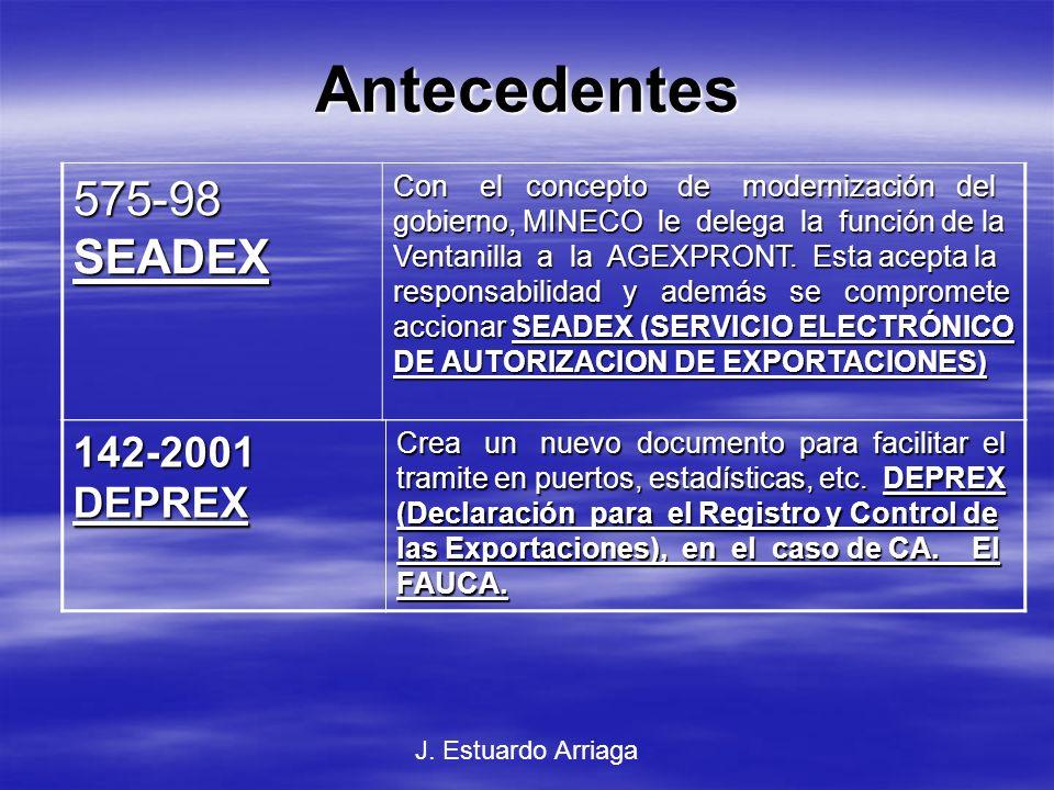 Antecedentes 575-98 SEADEX 142-2001 DEPREX