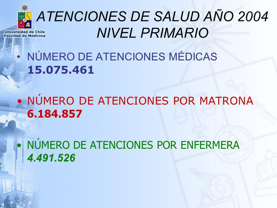 ATENCIONES DE SALUD AÑO 2004 NIVEL PRIMARIO
