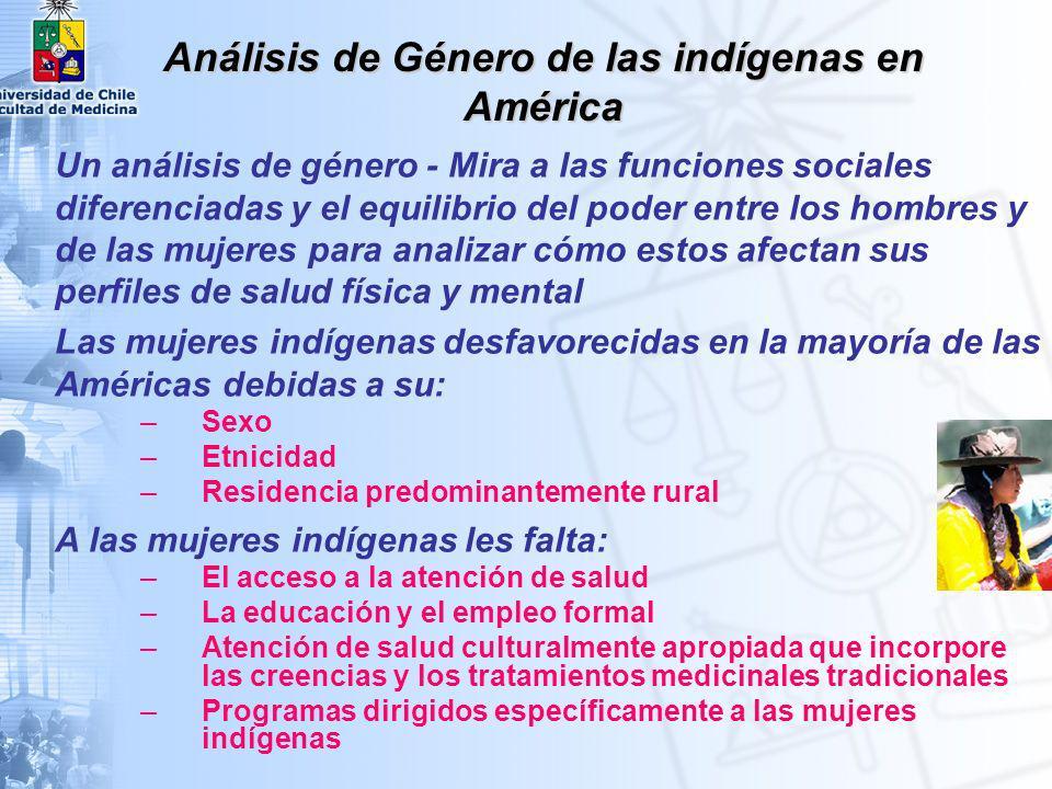 Análisis de Género de las indígenas en América
