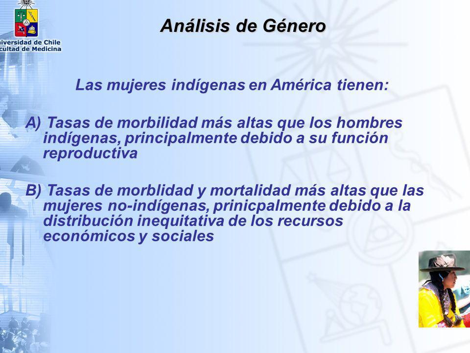 Las mujeres indígenas en América tienen: